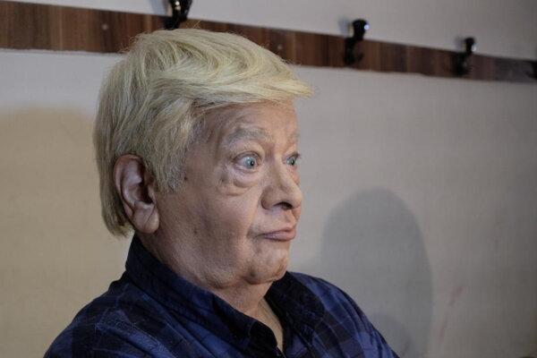 تعجب بازیگر ایرانی وقتی با گریم شبیه ترامپ شد!