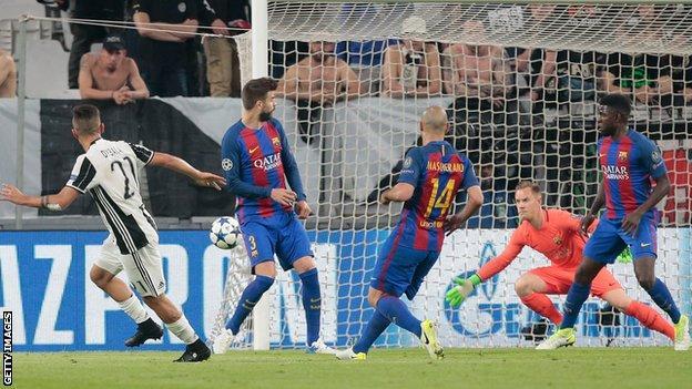 پلی به گذشته – پیروزی 3 بر 0 یوونتوس مقابل بارسلونا (11 آوریل 2017) / ویدیو
